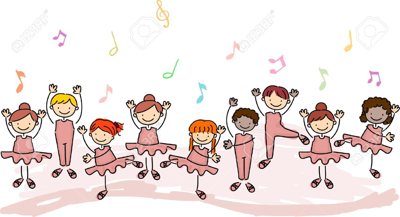 8906452-Illustration-of-Children-Practicing-Ballet-Stock-Illustration-cartoon