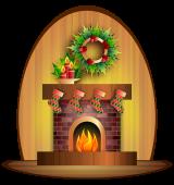 christmas-fireplace