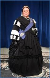 Queen Victoria reenactor Sally Mummey