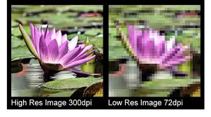 high res vs. low res images